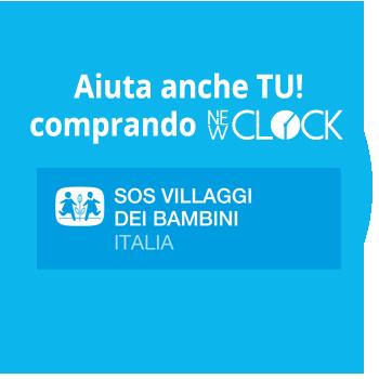 NEW CLOCK - REGALA UN SORRISO, compra l'orologio solidale  NEW CLOCK - REGALA UN SORRISO, compra l'orologio solidale