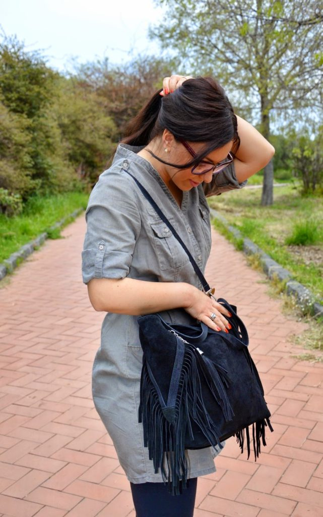 Outfit stile Boho-Militare con la borsa Emilio Masi - Military-Boho style outfit with Emilio Masi bag