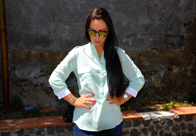 STYLISH MINT BLOUSE OOTD