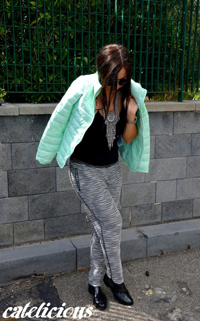 Gothic, glam, rock, boho style outfit