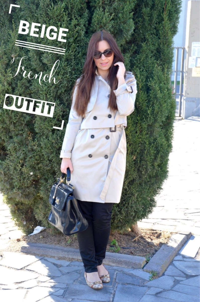 Beige trench outfit primaverile