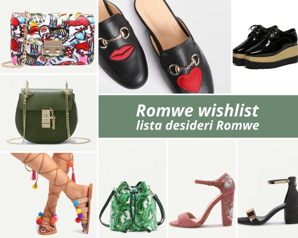 Romwe, le borse e le scarpe che vorrei nel mio guardaroba
