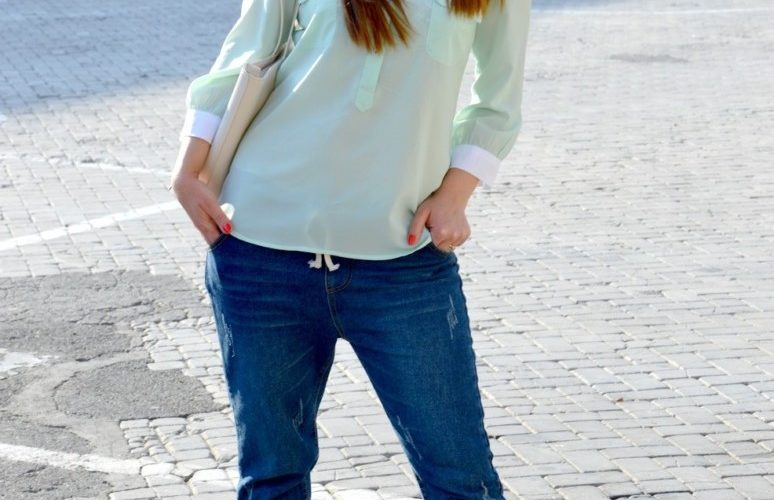 I miei Romwe washed jeans nella versione primaverile