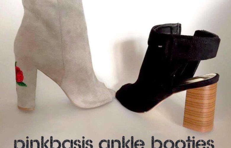 PINKBASIS ankle booties - tronchetti aperti
