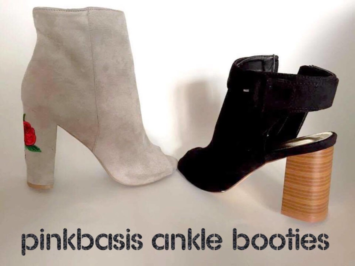 PINKBASIS ankle booties - tronchetti aperti