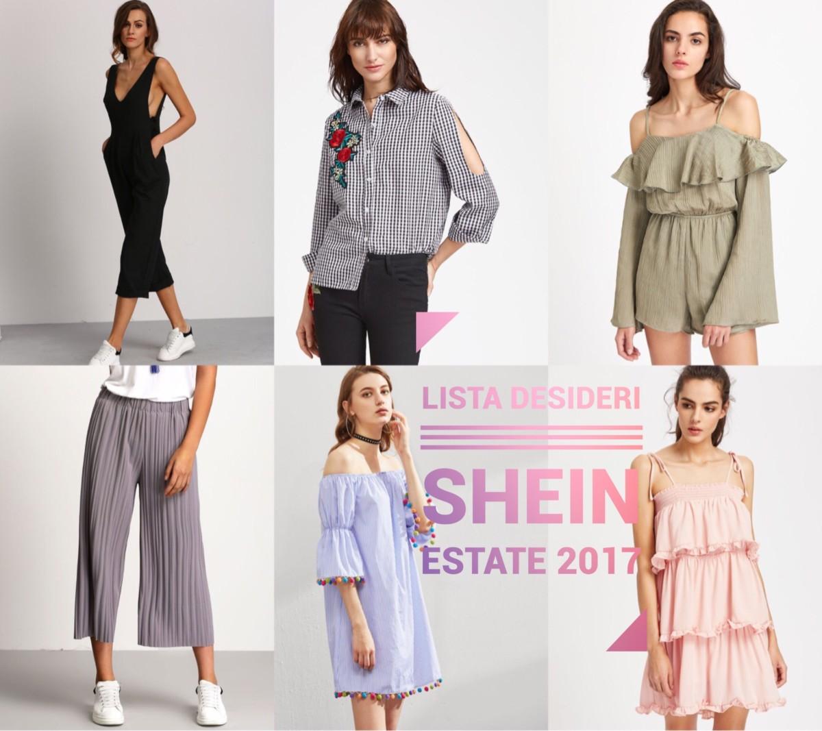 Lista desideri Shein estate 2017 - wishlist Shein