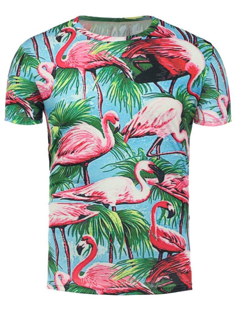 Hawaiian shirt online - flamingo print - dresslily shop